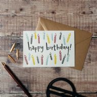Hunter Paper Co. 'Happy Birthday' Candles Card